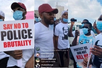 'This Is What We Want' - Nigerians Hail Falz After He Said This During #EndSARS Protest